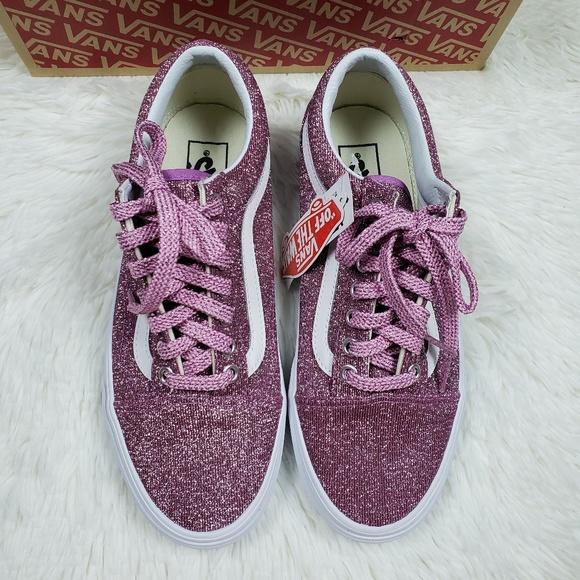 Vans Old Skool Pink Lurex Glitter Shoes